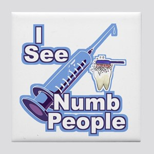 I See NUMB People! Novocaine Tile Coaster