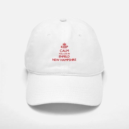 Keep calm you live in Enfield New Hampshire Baseball Baseball Cap