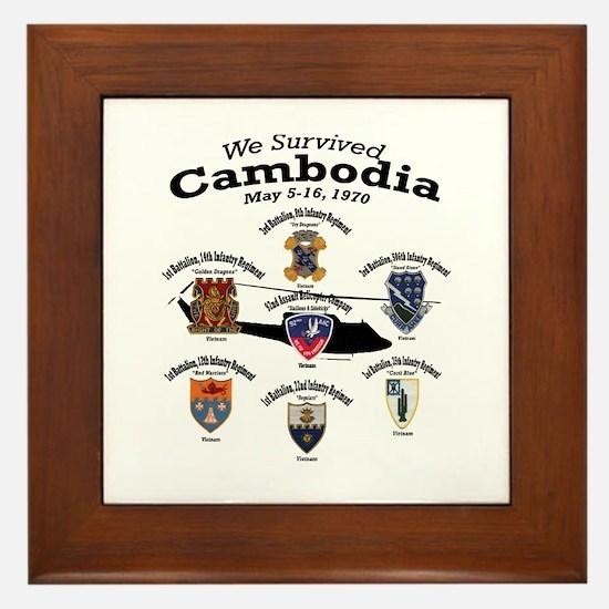 "92nd AHC ""We Survived Cambodia"" Framed Tile"