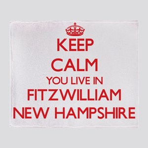 Keep calm you live in Fitzwilliam Ne Throw Blanket