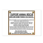 """""""I support animal rescue""""Postcards (Package of 8)"""