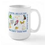 """Animal welfare slogans"" Large Mug"