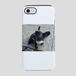 Cute blue Frenchie iPhone 7 Tough Case