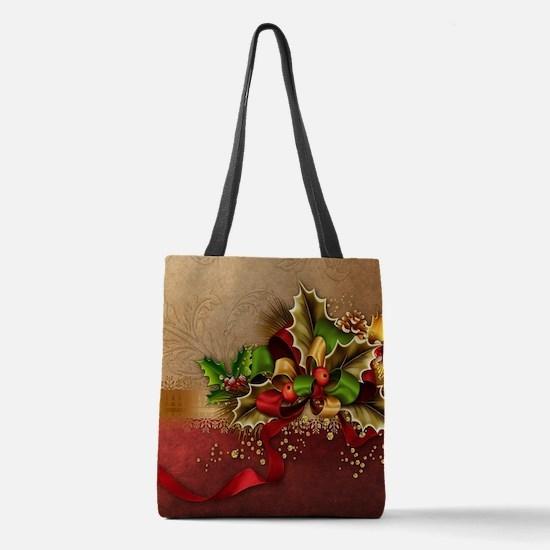 Christmas Decor Polyester Tote Bag
