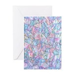 Crazy Quilt (lt.) Card Greeting Cards