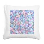 Crazy Quilt (Lt.) Square Canvas Pillow
