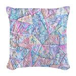 Crazy Quilt (Lt.) Woven Throw Pillow
