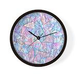 Crazy Quilt (Lt.) Wall Clock