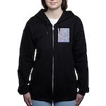 Crazy Quilt (Lt.) Women's Zip Hoodie