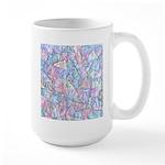 Crazy Quilt (Lt.) Large Mug