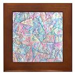 Crazy Quilt (Lt.) Framed Tile