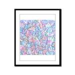 Crazy Quilt (Lt.) Framed Panel Print