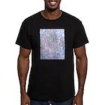 Crazy Quilt (Lt.) Men's Fitted T-Shirt (dark)