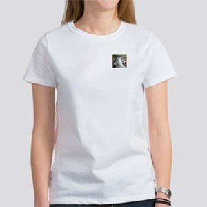 "Wildcrds Women's T-Shirt (2"" Snow Leopard Logo)"