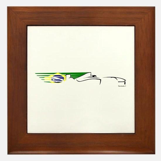 Formula 1 Brazil Framed Tile