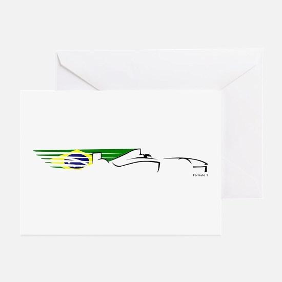 Formula 1 Brazil Greeting Cards (Pk of 10)