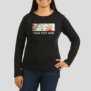 Alpha Sigma Tau F Women's Long Sleeve Dark T-Shirt