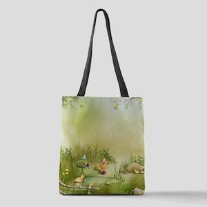 Easter Landscape Polyester Tote Bag