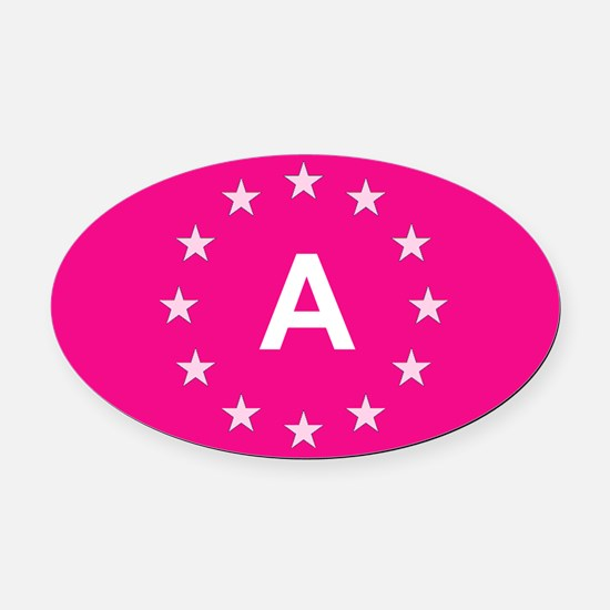 sticker A pink 5.psd Oval Car Magnet