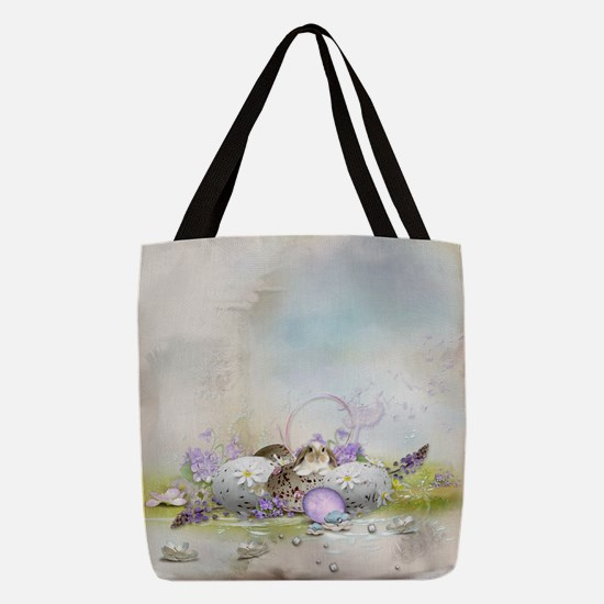 Easter Eggs Polyester Tote Bag