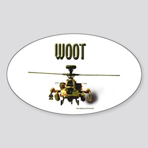 Woot Attack Oval Sticker