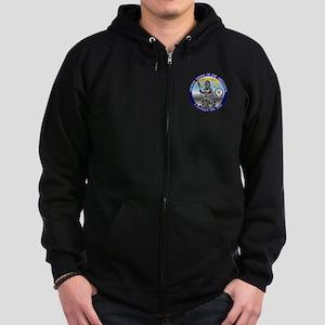 Navy Shellback Zip Hoodie