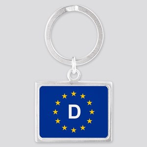 sticker D blue 5x3.psd Keychains