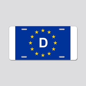 sticker D blue 5x3 Aluminum License Plate