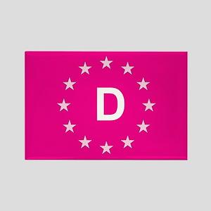 sticker D pink 5 Magnets