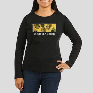 Alpha Sigma Tau P Women's Long Sleeve Dark T-Shirt