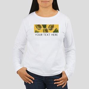 Alpha Sigma Tau Pineap Women's Long Sleeve T-Shirt