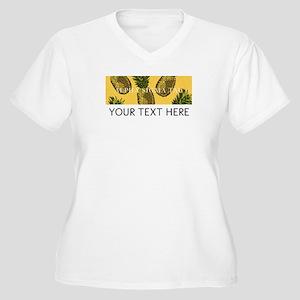 Alpha Sigma Tau P Women's Plus Size V-Neck T-Shirt