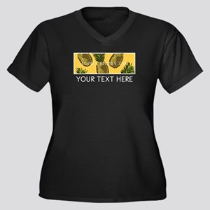 Alpha Sigma Women's Plus Size V-Neck Dark T-Shirt