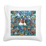 PS-TwoCavaliers Square Canvas Pillow