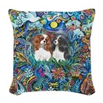 PS-TwoCavaliers Woven Throw Pillow