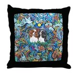 PS-TwoCavaliers Throw Pillow
