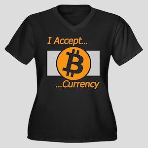 I Accept Bitcoin Plus Size T-Shirt