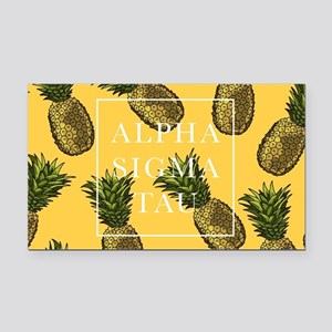 Alpha Sigma Tau Pineapples Rectangle Car Magnet
