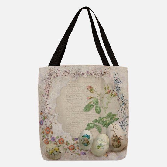 Easter Collage Polyester Tote Bag