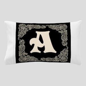 Black Personalized Monogram Initial Pillow Pillow