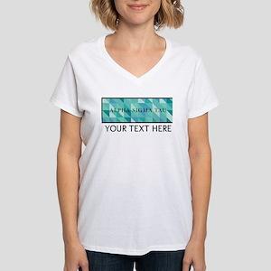 Alpha Sigma Tau Geometric P Women's V-Neck T-Shirt