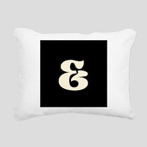 Black White Ampersand And Sign Rectangular Canvas