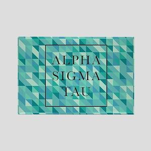Alpha Sigma Tau Geometric Rectangle Magnet