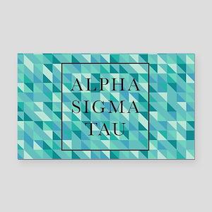 Alpha Sigma Tau Geometric Rectangle Car Magnet