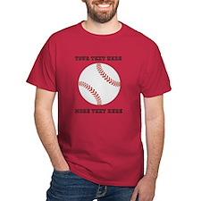 Personalized Baseball Dark T-Shirt