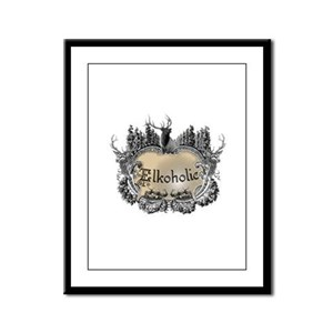 Elkoholic shirts and gifts Framed Panel Print