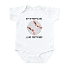 Personalized Baseball Baby Light Bodysuit