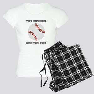 Personalized Baseball Women's Light Pajamas