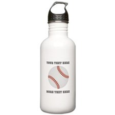 Personalized Baseball Stainless Water Bottle 1.0L