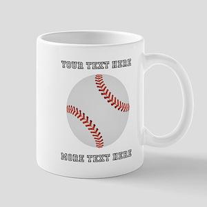 Personalized Baseball 11 oz Ceramic Mug